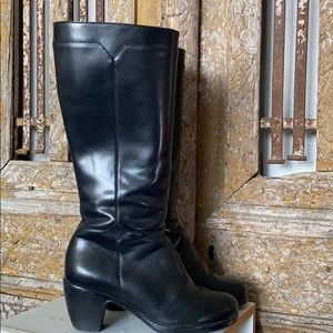 DANSKO Blac Bella Nappa 39 BLACK LEATHER BOOTS 39